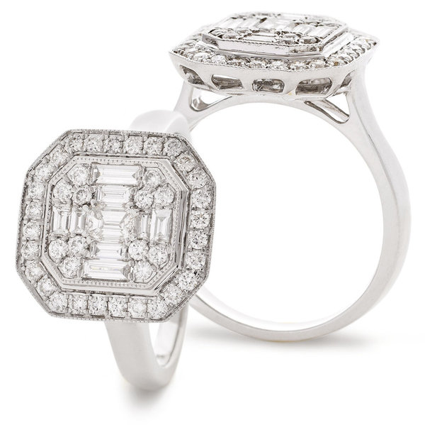 Modern Diamond Cluster Ring SL7345 (0.90ct)