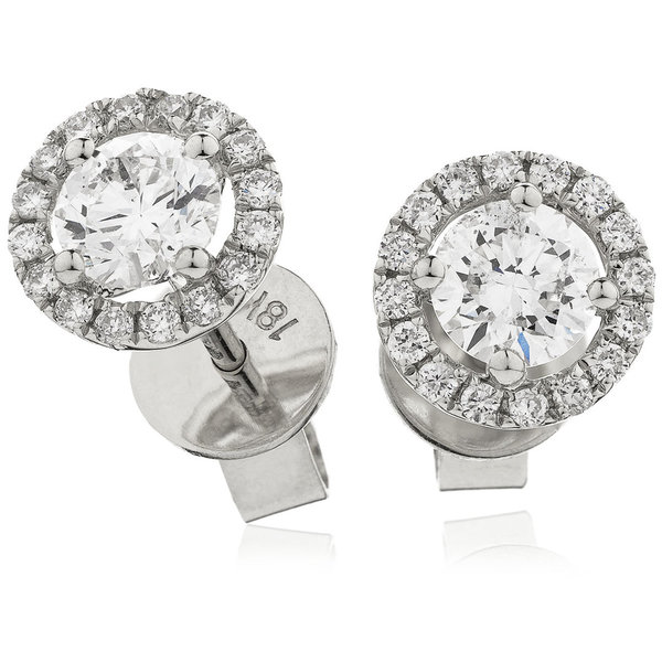 Diamond Halo Earrings BJE0032 (0.35ct-1.60ct)