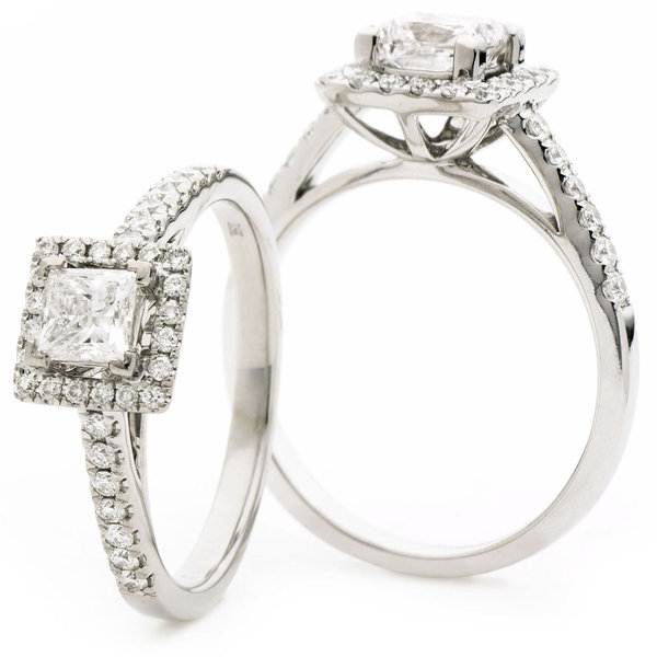 Diamond Halo Ring BJR0425 (0.75ct, 0.90ct, 1.25ct)