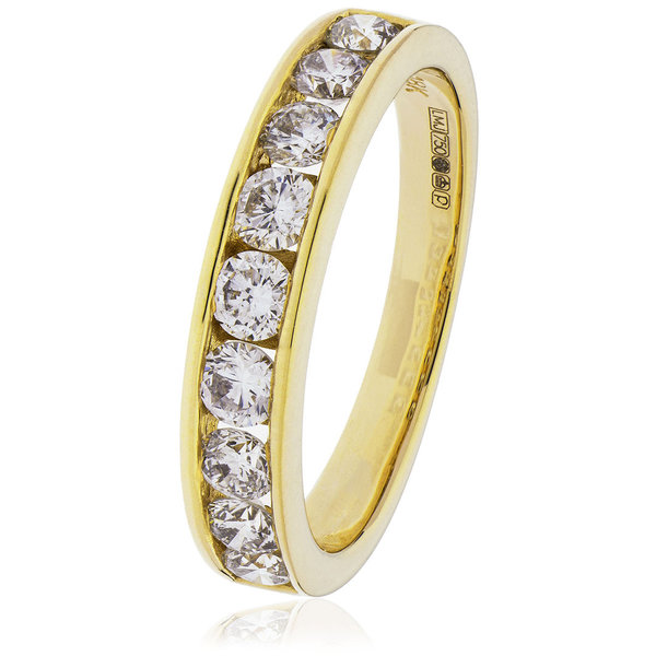 Diamond Channel Set Ring BJR130 (0.20ct - 2.00ct) 9ct &18ct White, Rose and Yellow Gold & Platinum,