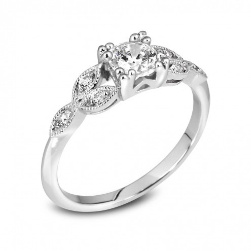 Vintage Style Diamond Ring VR3
