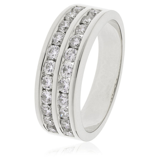 Double Row Diamond Ring BJR0138 (0.50ct- 1.00ct)