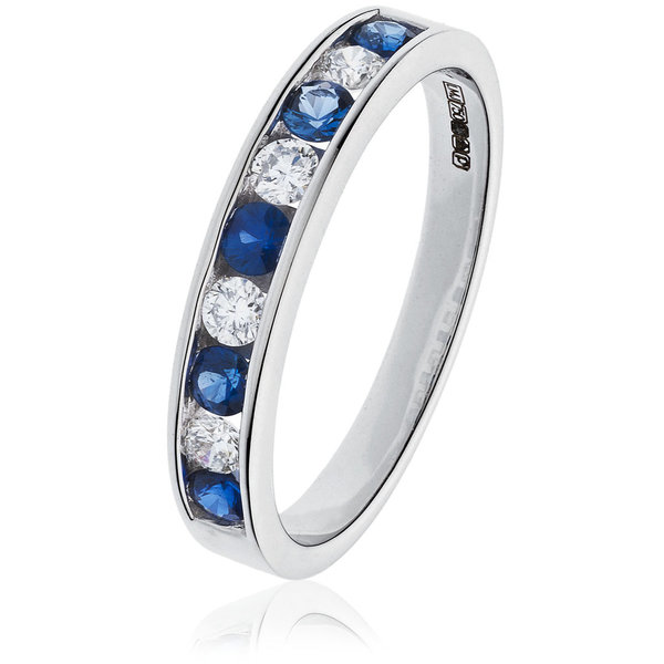 Diamond and Sapphire Ring BJR0132