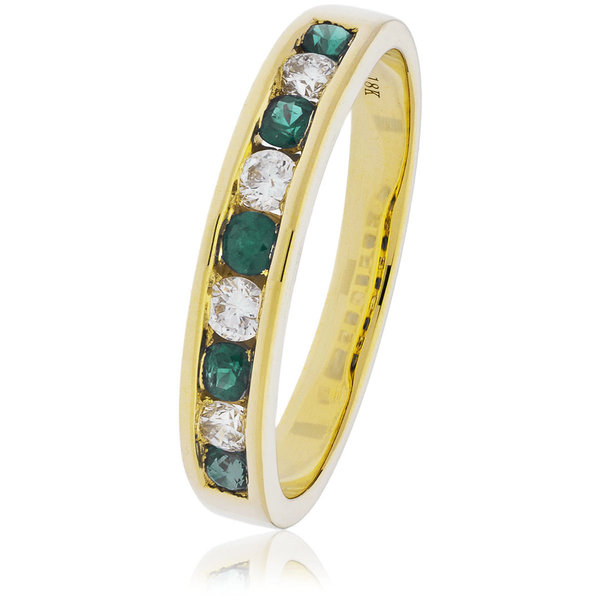Diamond and Emerald Ring BJR131EM