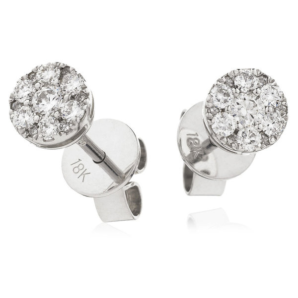 Diamond Cluster Earrings XYE8340 (0.35ct)