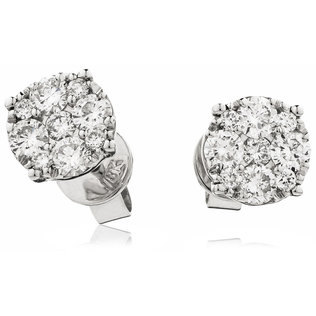 Diamond Cluster Earrings DNE0497 (0.75ct)