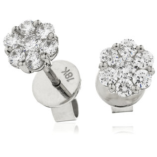 Diamond Cluster Earrings DNE003 (0.30ct-1.00ct)