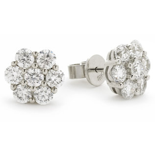 Diamond Cluster Earrings XYE1700 (1.35ct-2.00ct)