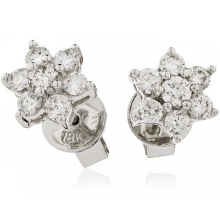 Diamond Cluster Earrings XYE1158 (0.50ct-4.30ct)