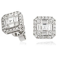 Diamond Cluster Earrings SE4099 (1.55ct)