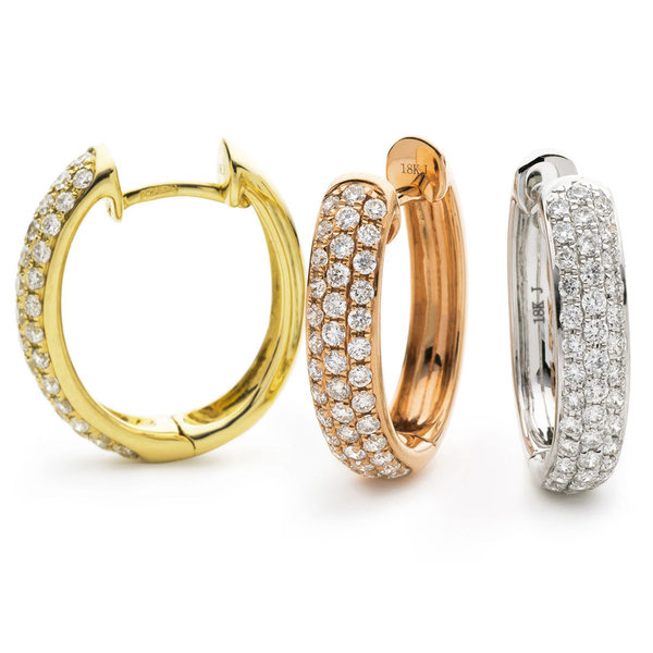 Diamond Hoop Earrings XYE0021 (0.70ct)